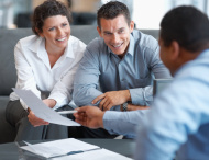 stock photo 12401349 financial planning couple getting consulted